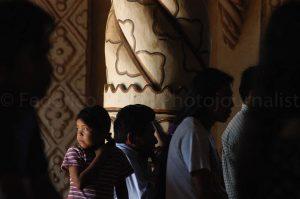 During a mass in San Xavier church/Chiquitania/Bolivia