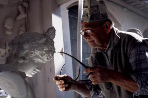 In a marble art workshop in Pietrasanta/Lucca/Italy