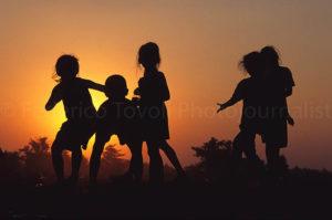 I bimbi di Vientiane